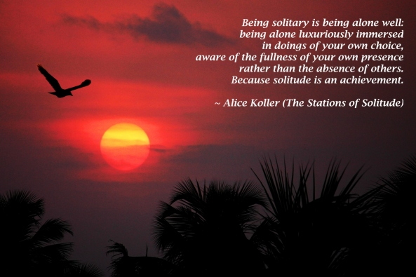 Being solitary