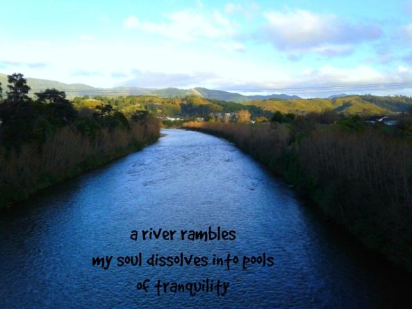Rambling river - haiga